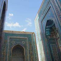 Знаменитые узоры и голубые цвета Самарканда