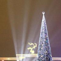 Новогодняя ёлка в Ташкенте.  Высота 23 метров.
